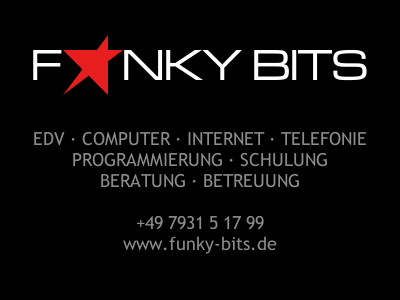 Bad Mergentheim - EDV Computer Webdesign Software Hardware Beratung Programmierung Alternativen Homepage WebSite Funky Bits